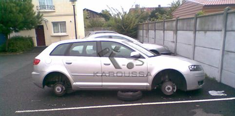 vol de roues de voitures en Algérie